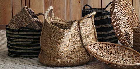 Eco-friendly Baskets at West Elm