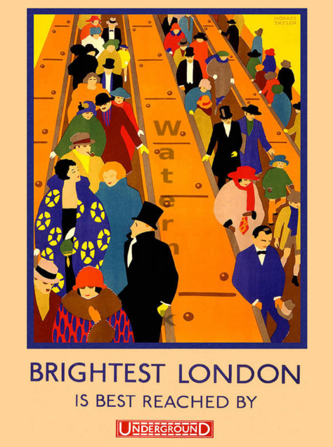 "Vintage Poster ""Brightest London"" 18x24"