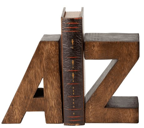 Wooden A To Z Bookend Archives The Frugal Materialist