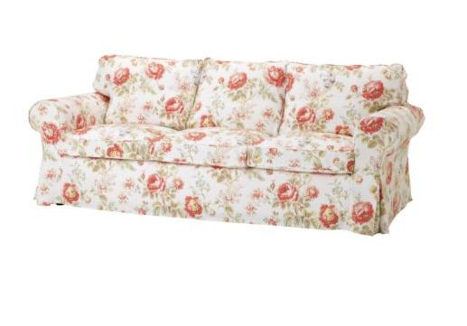 Floral sofa archives the frugal materialist the frugal for Housse divan ikea