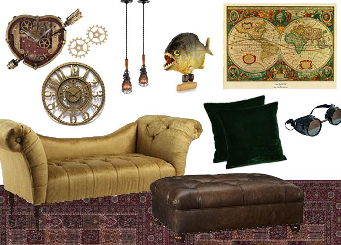 Steampunk inspired decor archives the frugal materialist for Steampunk living room ideas
