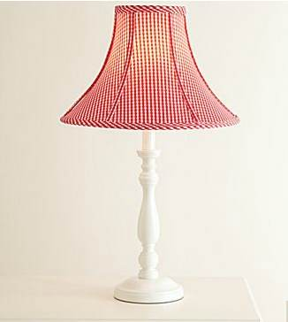 Gingham lampshade archives the frugal materialist the frugal gingham lamp shade aloadofball Images