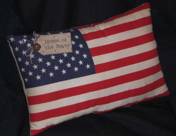 Americana Accent Pillow, $7.99