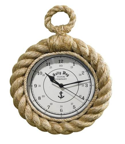Two's Company Know Your Rope Wall Clock 