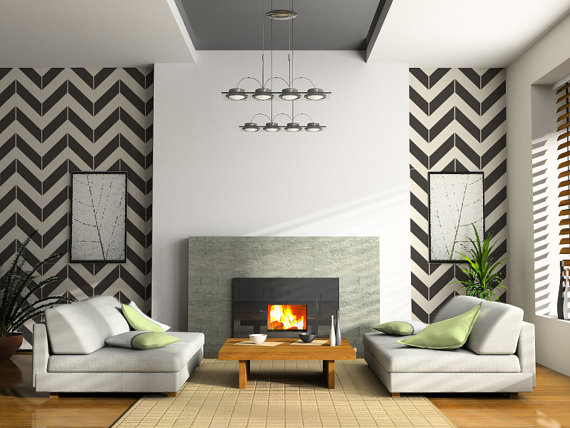 Chevron Patterns Design Homes California Homes Living