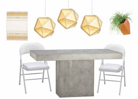 Fuze Dining Table Dining Room Ideas - Cb2 concrete dining table