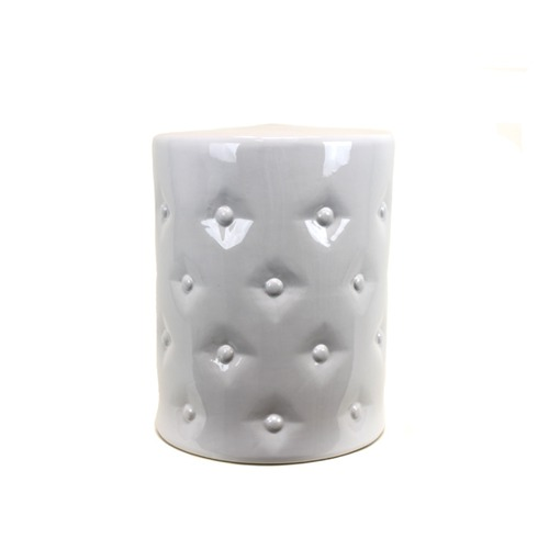 Bottom Distress Look Ceramic Garden Stool