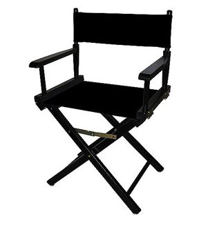 Director's Chair 18&quot;, Black Wood Base with Multiple Seat Color Choices