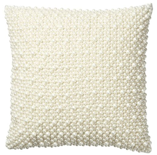 Pearl 12x12 Pillow, Ivory 