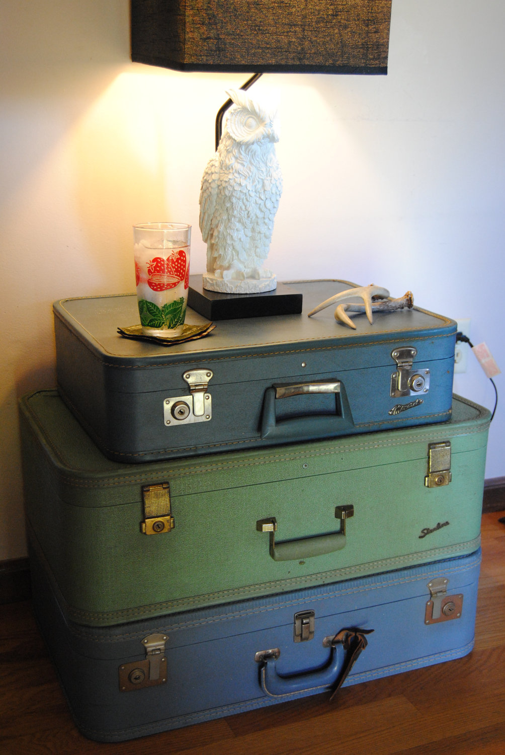 stacked suitcase table - auntsisterspicks, $90