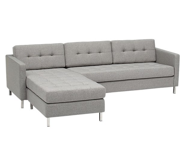 CB2 dual pebble tufted sectional, $1799