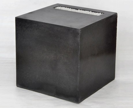 Concrete cube side table w/ gravel