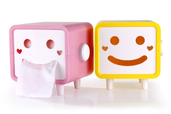 Smiley Face Tissue Box, $9.99 + int'l shipping