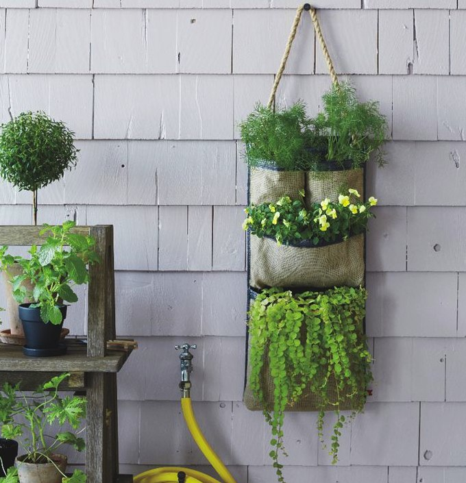 HANGING BAG PLANTER, $39