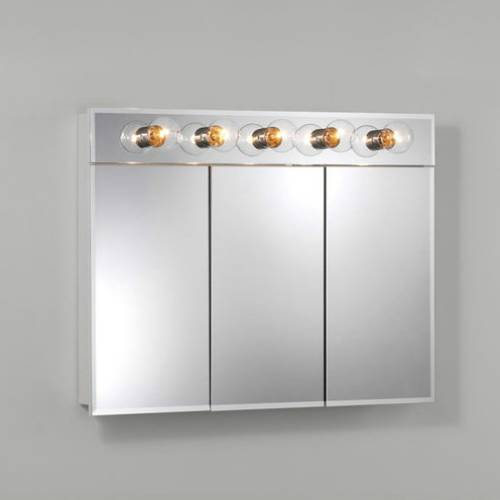 Nutone Tri-View Frameless Medicine Cabinet with 5 Lights, $220
