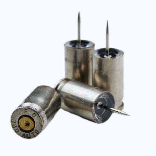 Auto Nickel Bullet Push Pins