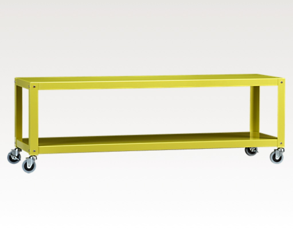 go-cart chartreuse table-media cart, $129