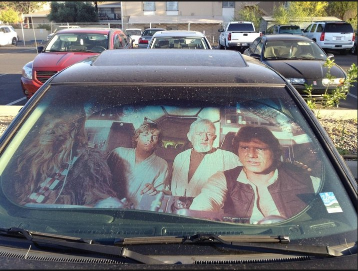 Plasticolor 003700R01 Star Wars Accordion Sunshade , $21