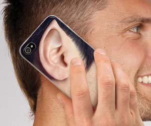 Male Ears iPhone Case, $12