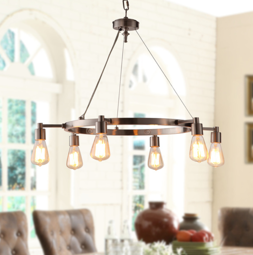 Rae 6-light Chandelier, $218