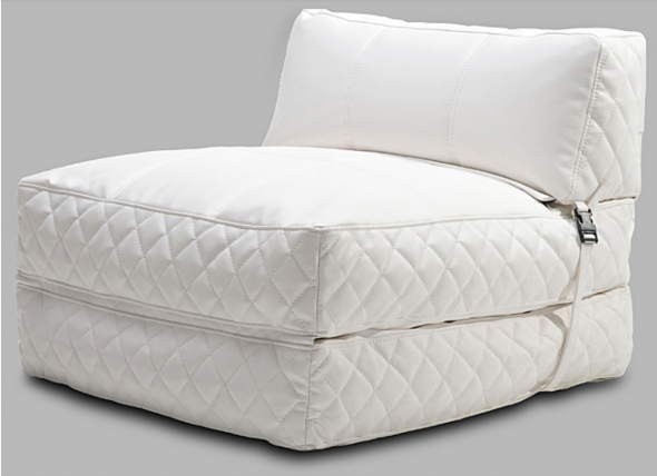 Austin White Bean Bag Chair Bed, $175