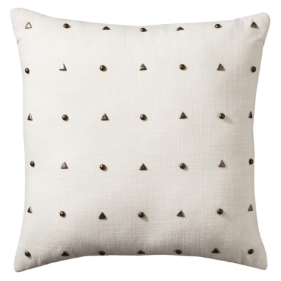 Nate Berkus Decorative Pillow with Studs, $20