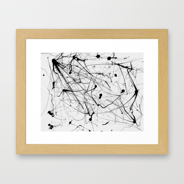 Society6 Abstract Ink (Black on White), from $15