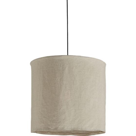 Cb2 linen pendant lamp, $60