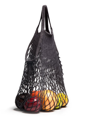 French Cotton Net Bag (Black)